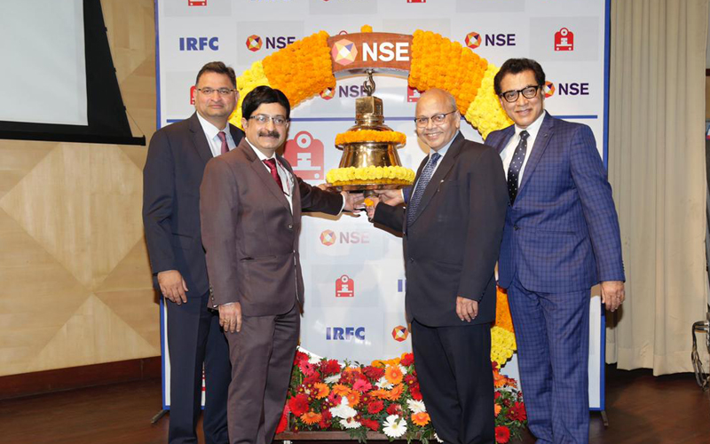 Listing of IRFC on NSE